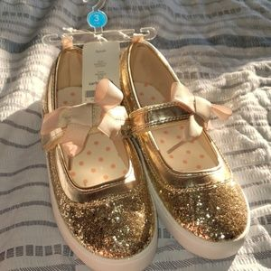Carter's gold glitter Mary janes